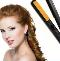 Wholesale 2016 New Pro quot Ceramic Ionic Tourmaline Flat Iron Hair Straightener with Retail Box DHL Free