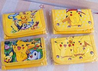 Wholesale 12pcs Hot selling fast shipping cartoon Pikachu folding purses mix order children s bags honestgirl09 christmas gift by honestgirl09