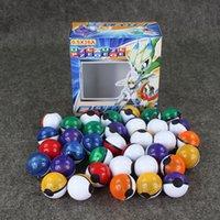 ball for children - 36 set Colors Poke Ball Plastic Action Figures Poke ball toys for children gift