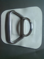 Wholesale boat PVC patch with stainless steel D trapezoid ring anchor bow patch for inflatable boat accessory boat nose