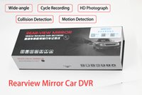 Wholesale 1080P inch Car DVR GPS Dual Camera Vehicle Traveling Data Recorder Night Vision REAR VIEW Mirror degree G Sensor