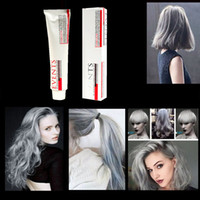 Wholesale Hair Color Permanent Fashion Silver Hair Cream Easy DIY Super Light Grey Dye Hair Cream For Men Women