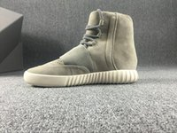Wholesale 2016 Fashion Boost Kanye Sneakers Boots Shoes Men and womens pure boost Basketball Shoes high Running Sports Shoee