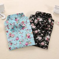 Wholesale Clearance Women Blouses Turn Down Collar Floral Blouse Long Sleeve Shirt Women Camisas Femininas Women Tops And Blouses Fashion