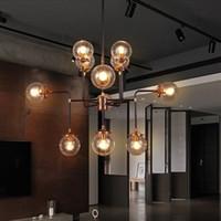 Wholesale loft industrial Beanstalk creative minimalist Nordic Iron Art glass ball pendant light living room restaurant