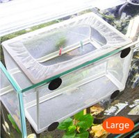 aquarium tank frame - Small NB A Fish Hatchery Aquarium Breeding Hospital Trap Baby Fish Tank Plastic Frame Net Fry Hatchery Breeder Breeding Incubator Isolat