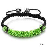 Wholesale jewelry new Shamballa bracelet green crystal diamond weave Ms PS488