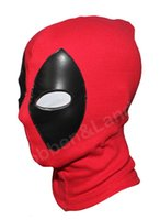 Costume Accessories Others Others Wholesale-deadpool PU leather masks 10pcs lot superhero balaclava halloween cosplay X-men headgear arrow party neck hood full face mask