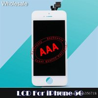 Wholesale Tianma LCD display touch screen for iphone lcd screen for iphone C digitizer for iphone s lcd full assembly relacement free dhl