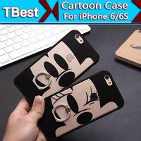 apples zebra - Cute Zebra Elephant Dog Doraemon Ring Holder Phone Case With Metal Ring For iPhone6 s Plus ring Skin Case