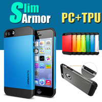 Wholesale SGP TPU PC Anti Shock Shockproof Hybrid Hard Slim Armor Tough Armor Case Cover For iPhone Plus S S SE Samsung Galaxy Note S7 Edge S6