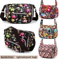 Wholesale Women Messenger Bags Print Floral Sport Cross Body Shoulder Canvas Hobo Bag Nylon Oxford Fabric Women s Handbag Bolsas Femininas