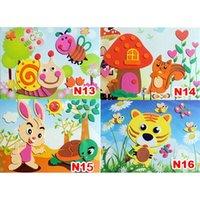 Wholesale DIY Handmade D Eva Foam Puzzle Sticker Self adhesive Eva Crafts Toys Learning Education Toys cm cm