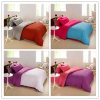 bedsheets designs - 36 designs Elegant natural cotton solid color reversible grey blue pink purple white bedding set queen bedsheets bedspread