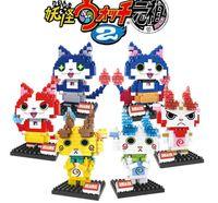 Wholesale 2016 style yo kai watch DIY figures building blocks Diamond blocks kids educational toys with box