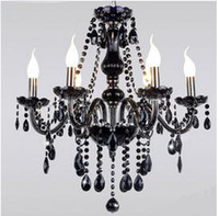 Wholesale New Cheap Black Murano Chandelier Light modern black chandelier restaurant chandeliers glass Candle chandeliers crystal ball chandelier