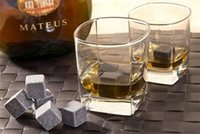 Wholesale 1000 quot Natural Whiskey Stones set Whisky Stones Cooler Whisky Rock Soapstone Ice Cube With Velvet Storage Pouch A014