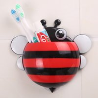 bee toothbrush holder - 2016 Creative Bathroom Products Sets bees Toothbrush Toothpaste Holder Wall Sucker Suction Hook Tooth Brush Holder