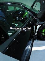 Wholesale High Glossy Black Vinyl Wrap Car Wrap with Air Bubble Shiny Black Vinyl Ultra Gloss Wrap Film piano black wrap x30m Roll