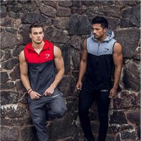 Wholesale Mens Bodybuilding Hoodies Gym Brand clothing Workout Shirts Hooded Sport Suits Tracksuit Men Chandal Hombre Gorilla wear Animal