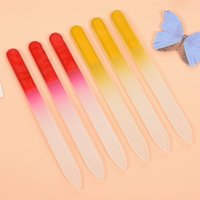 Wholesale Glass Nail Files Durable Crystal File Nail Buffer Nail Care mm Double frosted nail buffer