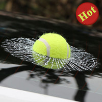 Wholesale Hot D Car Stickers Ball Hits Car Body Window Sticker Self Adhesive Baseball Tennis Decal Accessories Funny Auto Car Styling