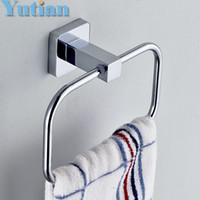 Wholesale HOT SELLING Bathroom towel holder Stainless steel Wall Mounted Round Towel Rings Towel Rack YT