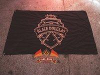 banner promotion - Black douglas LOGO brand flag Bar decoration Wine promotion banner flag king polyster banner