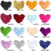 Wholesale 5000pcs Confetti Silk Rose Petals Favors Flower Colors For Wedding Party Decoration Hot Sale Romantic Birthday Decoration