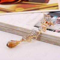 best friends clip - 2015 Pendientes Fine Jewelry Brincos Ear Cuffs music Note With Crystal Clips Earcuff Clip On Earrings For Women Best Friends