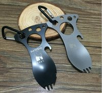 Wholesale New Eat N Tool Spork Bottle Opener C Carry Carabiner for Camping Survival Tool
