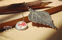 big color pages - Best Value Antique Silver Leaf Metal Pendent Vintage Retro Page Tag Bookmark Color Big Leaves Christmas Gift E867E