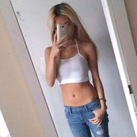 Wholesale 2016 popular women crop shirts tomy sport crop tops english letter embroidery Camisole High quality tank top for women