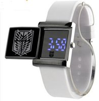 alan watch - New Fashion Digital Led Slide Table Sports Anime Cosplay Attack on Titan Alan Sanli Wings of Liberty watch Silicone strap