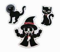 Wholesale Hallowmas pieces embroidery iron on patch Promotional gift pieces in a polybag