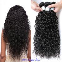 100% cabelo humano virgem tecer 7A barato cabelo virgem brasileiro 4 feixes de ondas brasileira molhado e ondulado água cabelo encaracolado weave 24in