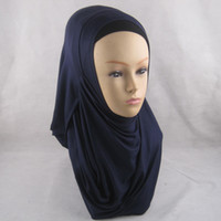 Wholesale New Design Ready to Ship lycra Hijab Slip heavy jersey Instant Shawl Fashion Hijabs in Stock