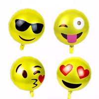 Wholesale Emoji balloons inches Party Adornment Balloon Emoji foil balloons Children Gifts Emoji Party Supplies