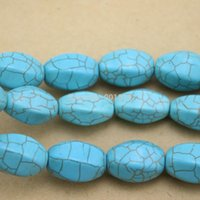 Wholesale Approx pack cm cm cm Geometry Irregular column Blue Turquoise Stone For Jewelry Making DIY Necklace F1251
