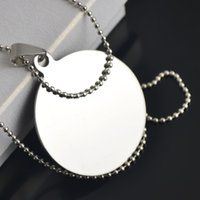 ball steel cans - 20pcs Disc Can Be Engraved Stainless Steel Sports Pendant Ball Chain Men Necklace For Gifts A124700