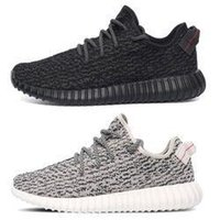 cotton fabric cloth - Kanye Pirate Black WHITE yeEze boost Coconut Shoes Black Grey White yeEzied BOOST Sneakers Casual shoes Boots