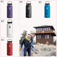 Wholesale Hydro Flask oz Vacuum Insulated Stainless Steel Water Bottle Wide Mouth Cap Sports Hydration Gear Cup OOA498