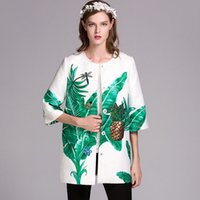 beaded trenches - New Arrival Autumn Winter Women s O Neck Sleeves Sequined Printed Beaded Elegant Runway Trench Coats
