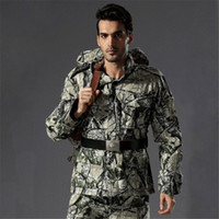 Wholesale Novel Tactical Hunting Jacket Men Outdoor Spring Autumn Winter Cotton Coat Bionic Terrain Camouflage Camping Hunting Sports Jacket