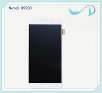 bars t - 2016 Rushed Test Good Working Original for Samsung Galaxy Note5 N920f p a t v Lcd Display Touch Screen Digitizer White Freeshipping