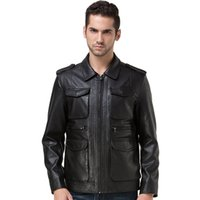 Wholesale Winter Leather Jacket Men Turn down Collar Jaqueta De Couro Masculina PU Manufacturer Mens Leather Jackets Skull Punk Veste Cuir Homme Coats