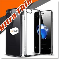 Wholesale For iPhone Plus Case EP Ultra Thin Shock Absorption Bumper Silicone Plating TPU Cover Soft Flexible Anti Scratch Protective Cases Cover