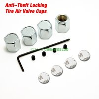 air metal logo - 30set for New Caps Anti Theft Locking Tire air valve caps For Mixed LOGO Order