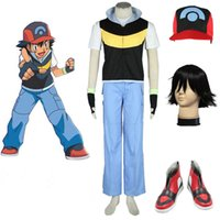ash ketchum costumes - 2016 Hot Pocket Monster Ash Ketchum Cosplay Costume Cos Hat Any Size