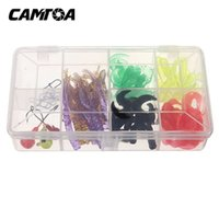 angler box - CAMTOA Artificial Fishing Soft Silicone Lures Box Baits Hook Jig Head Swivel Worms Grub C4 Perfect For Angler